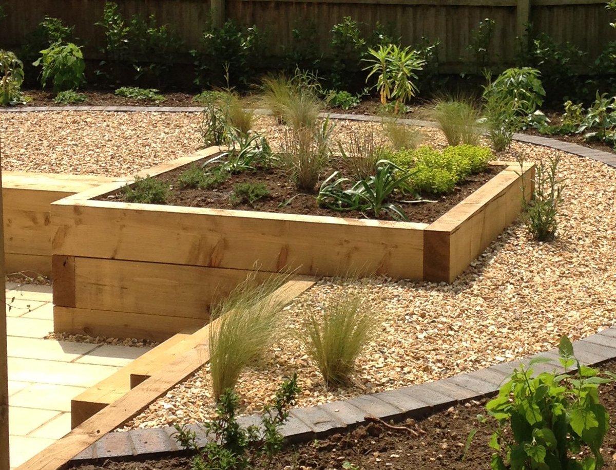 Railway sleepers gardensleepers twitter for Garden design railway sleepers