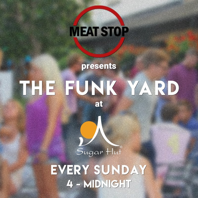 Today from 4pm @meatstop_ presents The Funk Yard @sugarhut With DJs, BBQ and late bar! https://t.co/GPZpZhu5p1