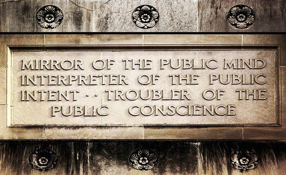 "Thinking about the diverse ""public"" we serve, and I'm reminded of this Detroit News inscription. #PRNDI16 https://t.co/pN6vNHLO0G"