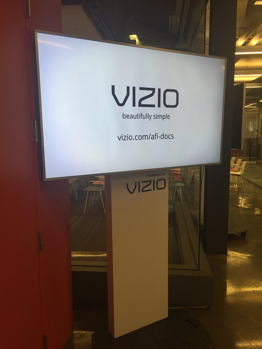 Thank you @VIZIO for sponsoring today's Technology Panel at the Filmmaker Forum! #AFIDOCS https://t.co/s3beOyVZA2