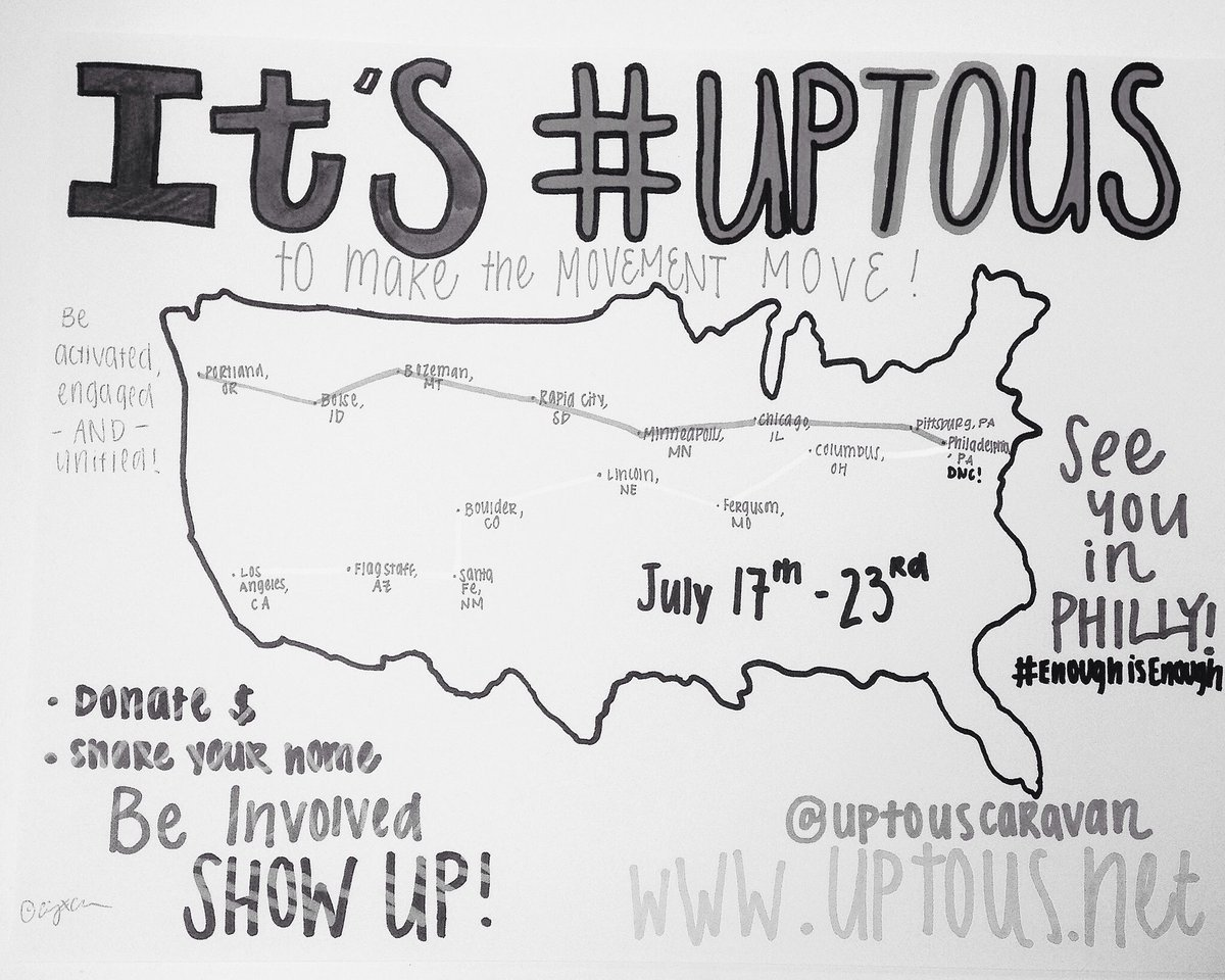 i got many q's when i posted on instagram. many are coming on #UpToUs caravan & ppl are awake! @shailenewoodley