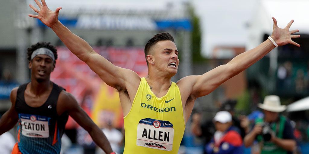 Devon Allen wins the day