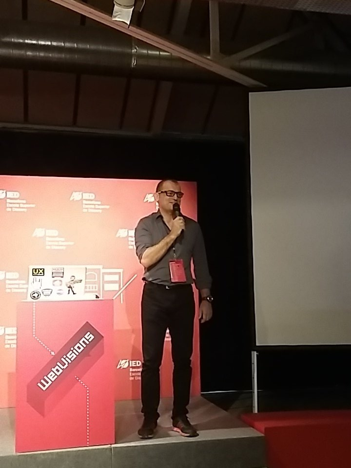 .@alemanetti welcoming the @webvisions  audience at @iedbarcelona #design #GoodDesignisGoodBusiness https://t.co/uO1t5QnXAw