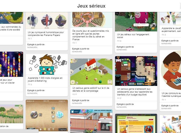 Envie de tester des #SeriousGames pendant vos vacances ? MAJ de notre Pinterest Jeux sérieux https://t.co/Z1gv5O2FFX https://t.co/YFvpxtER3l