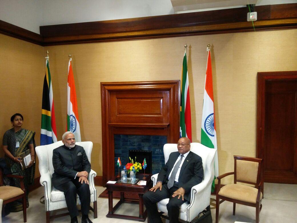 Narendra Modi, Jacob Zuma hold talks in Pretoria