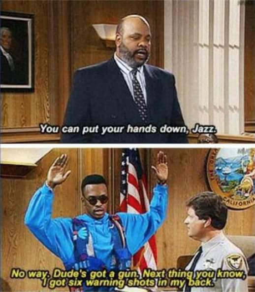 The Fresh Prince called this in '92. How is this still relevant? #guncontrol #dallas https://t.co/pPvMaesUZ9