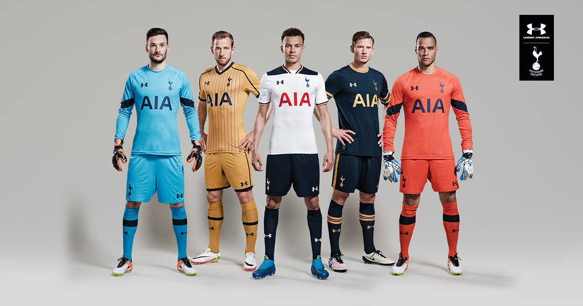 Tottenham Hotspur release three new Under Armour kits