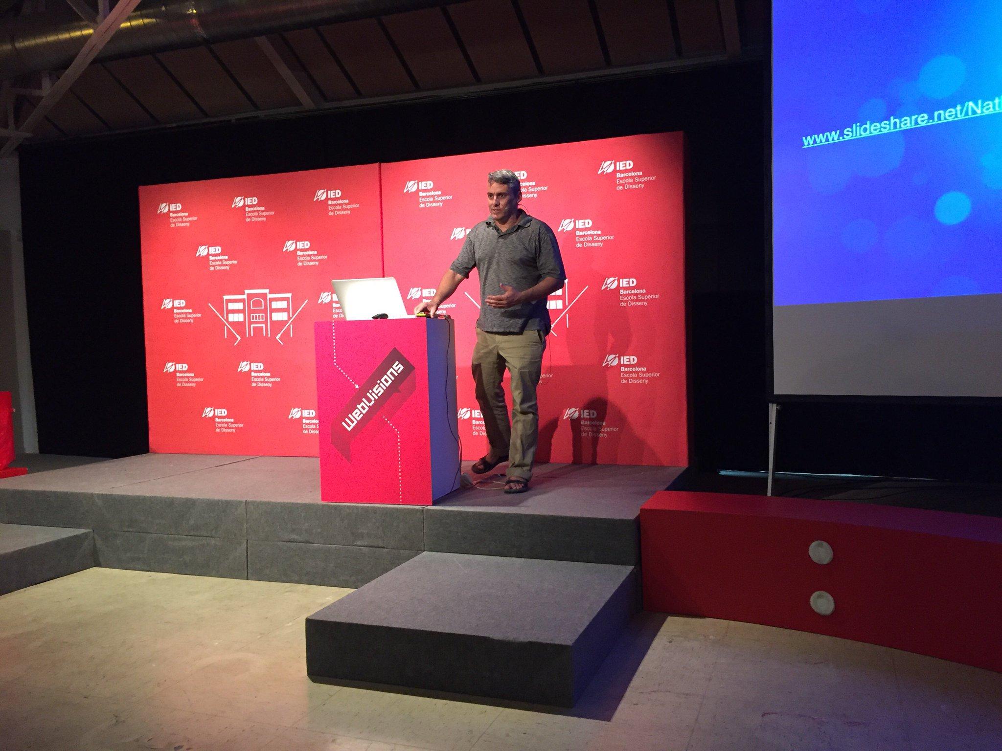 Kicking off #webvisions Barcelona with @nathanshedroff at @iedbarcelona -- woot! https://t.co/gFTfBCJ4Ip