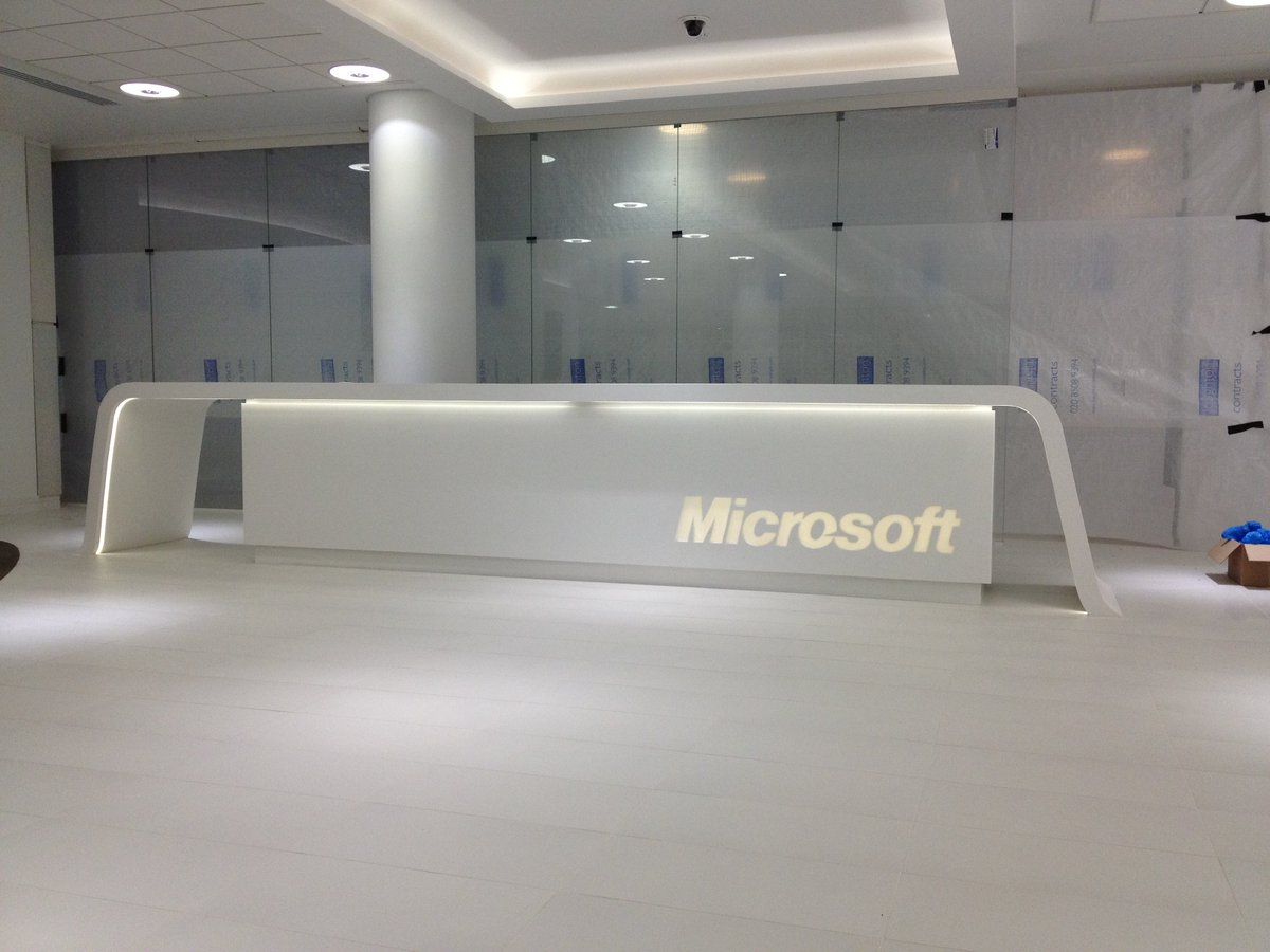 clarendon fab ltd on twitter another reception desk backlit led corian hanex staron himacs clarendonfabrications solidsurface fabricator
