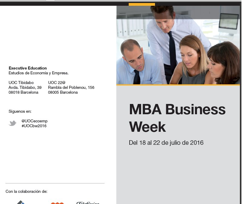 Thumbnail for International MBA Business Week (7ª edición)