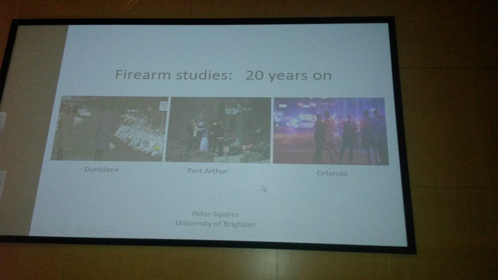 Panel on firearm studies with @PSqCriminology @ #BSCConf16, USA news this morning confirm how needed they are... https://t.co/zKwafVNBbl