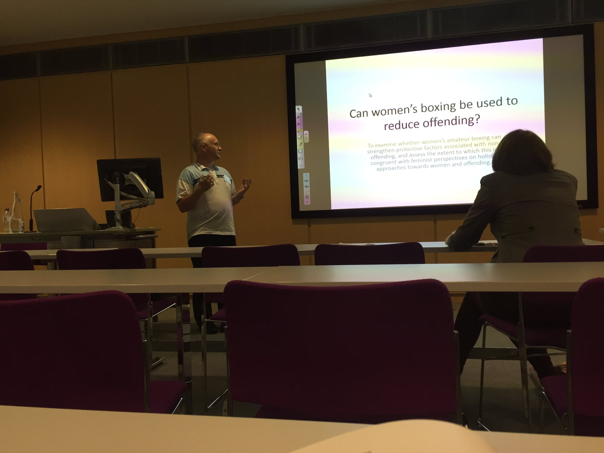 Michael Bryden presents paper in women's boxing  #BSCConf16 https://t.co/1v3JFcU1MZ