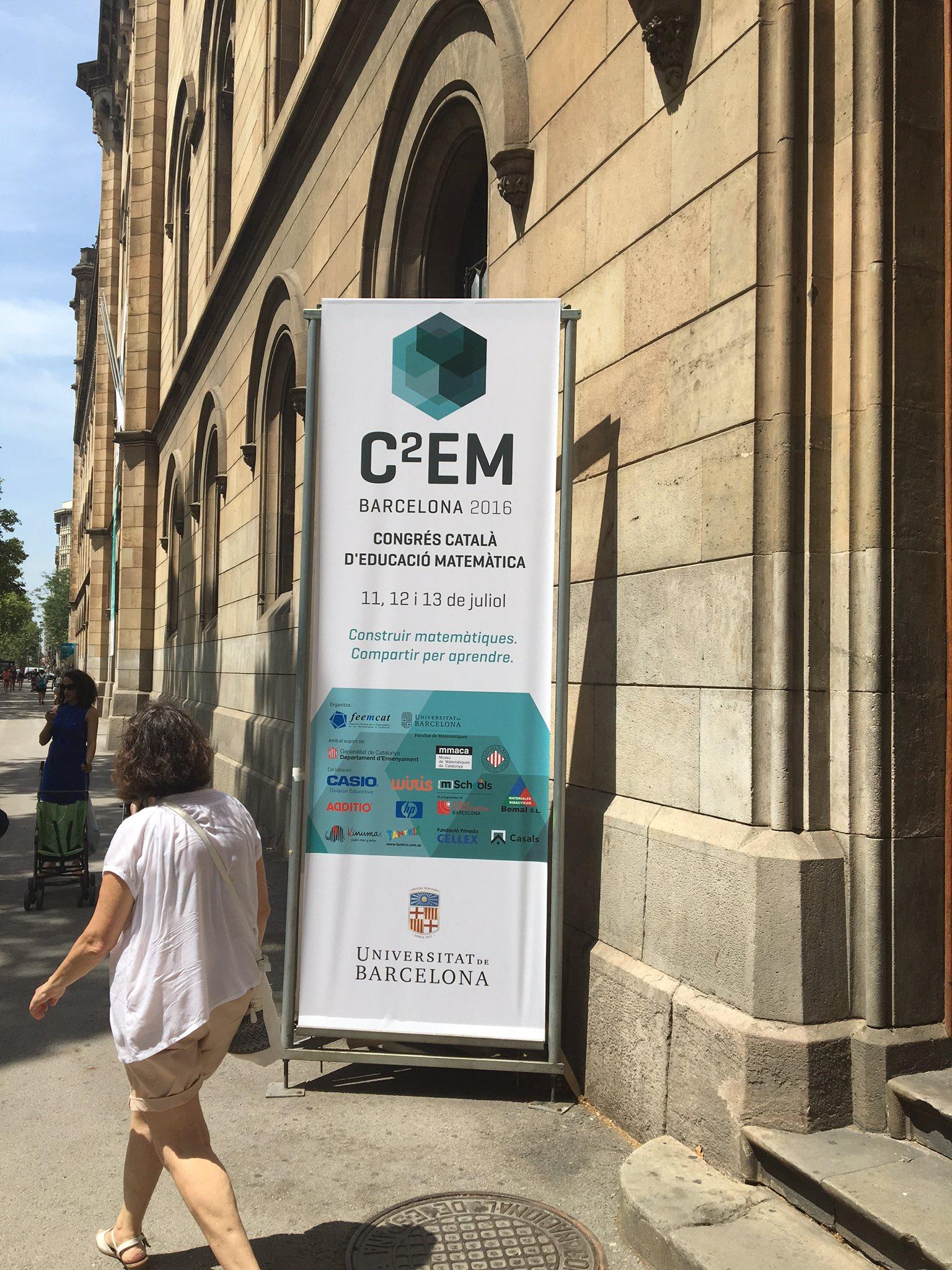 Tot preparat pel Congrés català d'educació metemàtica a la Fac de mates @UniBarcelona #c2em https://t.co/twP9J8IRyS https://t.co/lVeJfPx5GF