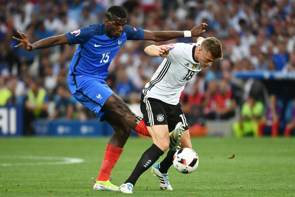 Image result for Pogba with Toni Kroos