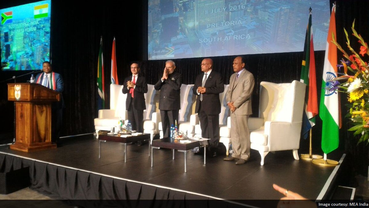 PM invites South African CEOs to participate in India's transformation march
