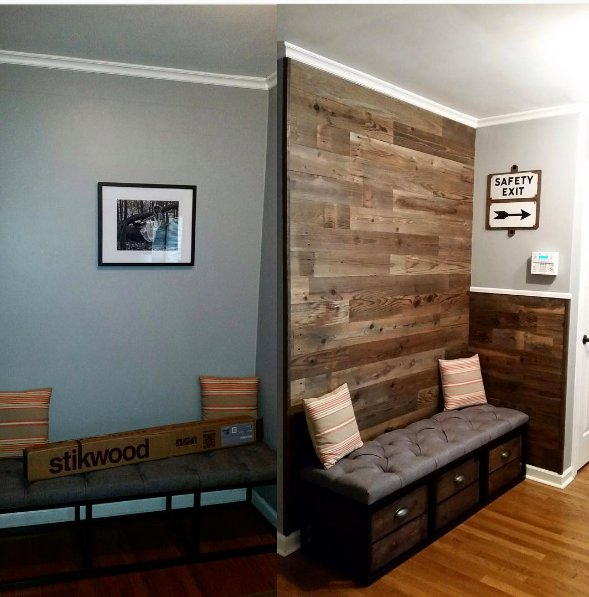 real wood decor stikwood is a peel and stick real wood decor rethink your walls stikwood