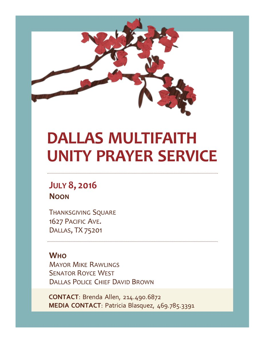 """mike rawlings on twitter: """"we'll have a prayer service at noon for"""