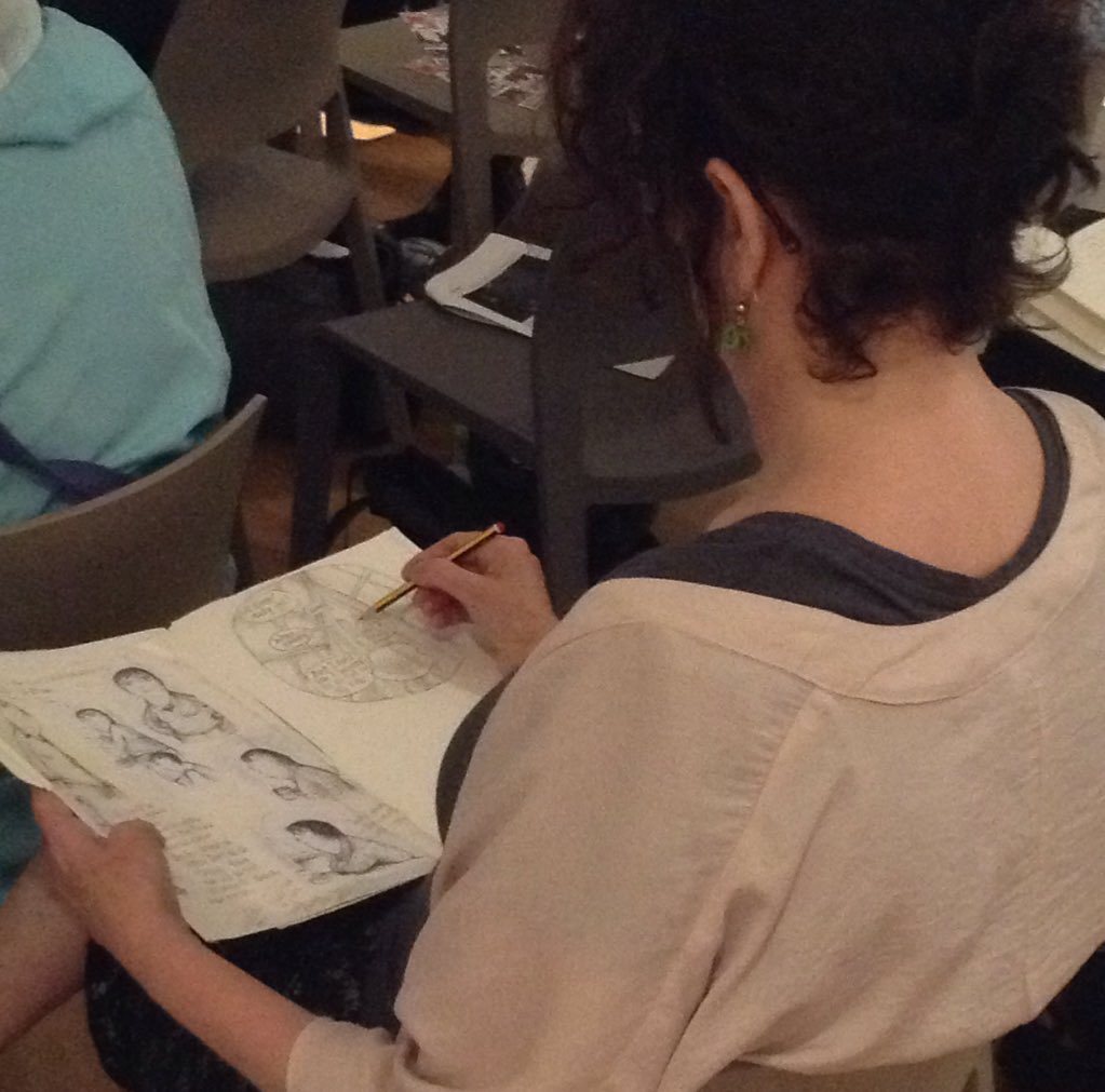 We're hosting the Markings Festival symposium. The audience can't stop drawing including our friend @rachaelcartoons https://t.co/fh32ejFRvc