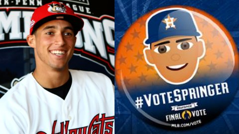 2011 'Cat George Springer needs YOUR help! Please #VoteSpringer into the @MLB All-Star Game! Retweet to vote! https://t.co/lUGTewnxIt