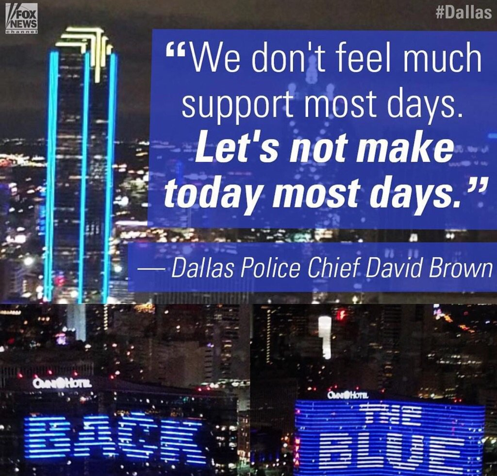 Sadly most police departments around the country don't feel much support these days. #backtheblue https://t.co/ZRY419bQ9O