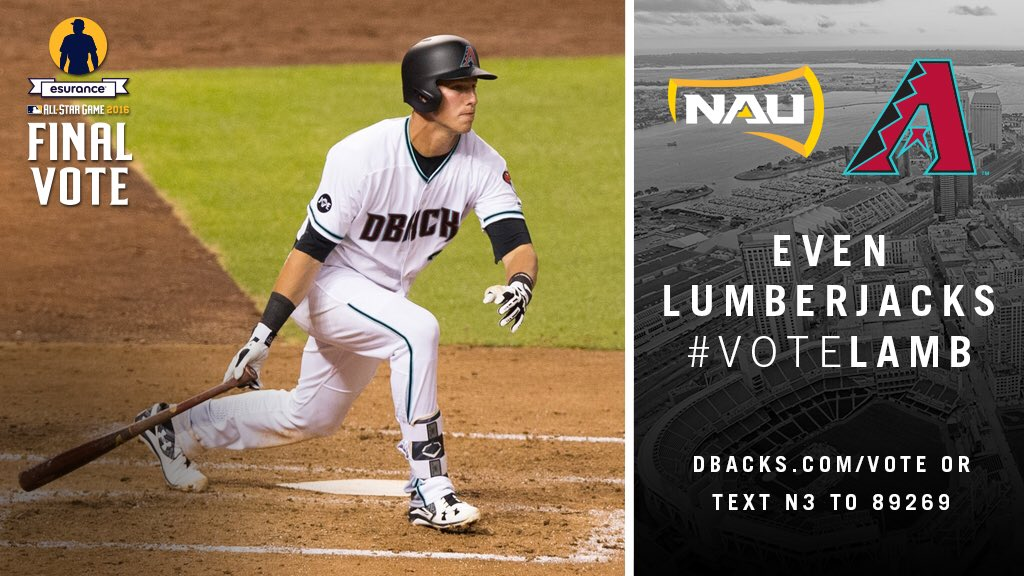 It's not too late to #VoteLamb go to https://t.co/0PBhzxNVGf right now. Vote Vote Vote @Dbacks https://t.co/ZeIVBIFyRP