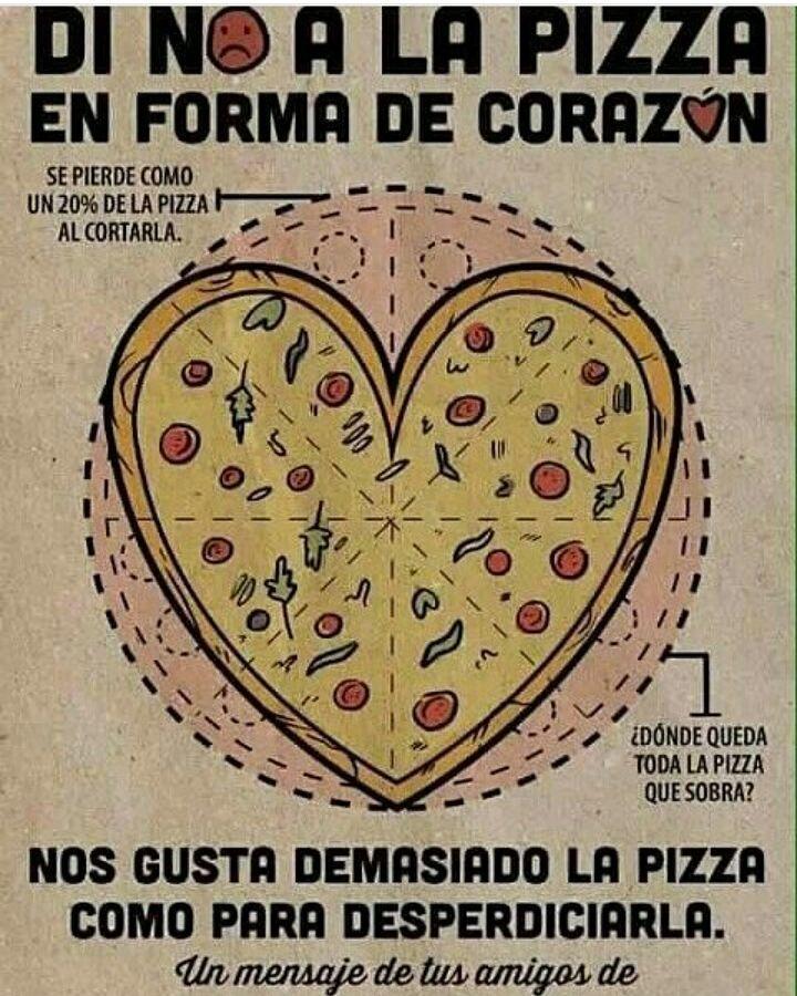 Juan Narváez On Twitter Dile No A La Pizza En Forma De Corazón