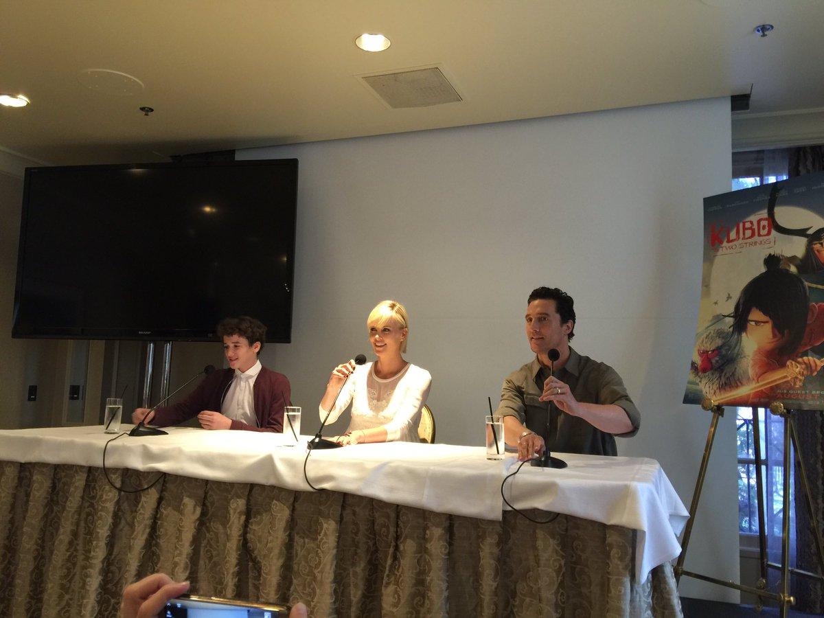Amazing conversation w/ @kubothemovie stars, Art Parkinson, Charlize Theron, & Matthew McConaughey #KuboMovie #TMOM https://t.co/6RmMxgmz0O