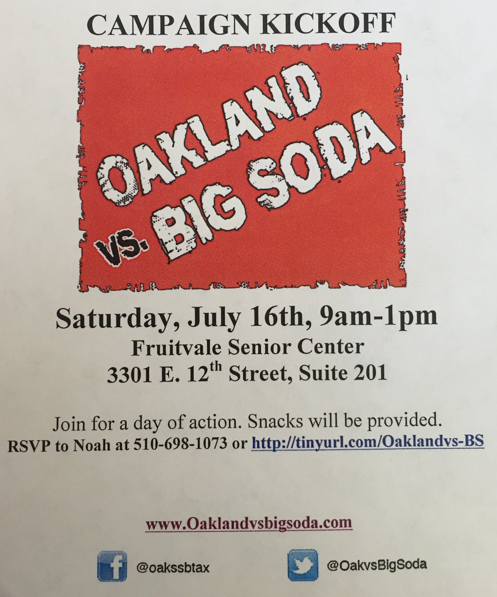 Campaign Kickoff: Oakland vs. Big Soda @ Fruitvale Senior Center | Oakland | California | United States