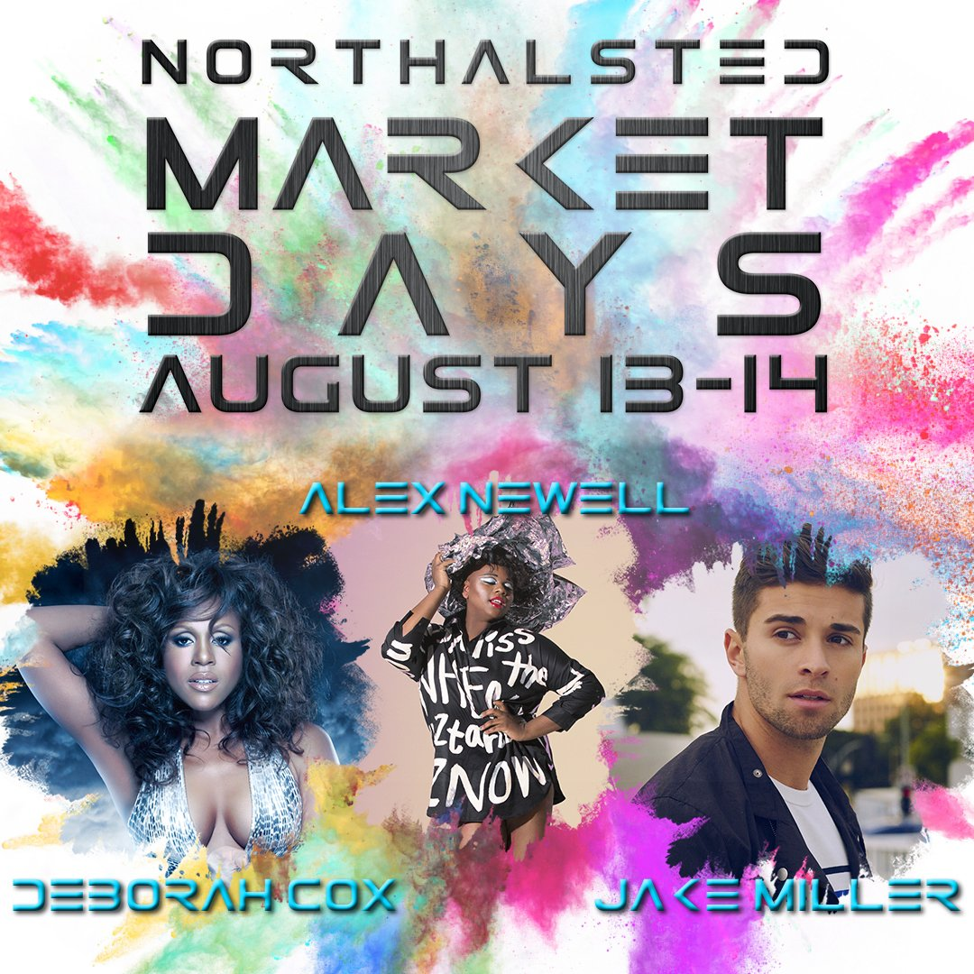 Say hello to the headliners at this year's Northalsted Market Days! Who are you excited to see? #MKTDays2016 https://t.co/tbRfz0mXrZ