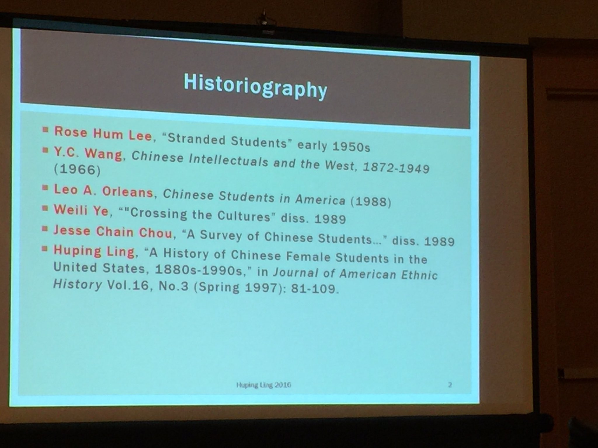 #ISSCO2016 Panel 4 Ling: running through historiography of Chinese students overseas, most on male students only. https://t.co/HoqCvFknSQ