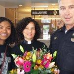 Prayers and support for local police. #flowers4cops #BlueLivesMatter  #BlackLivesMatter @ImmanuelSeattle