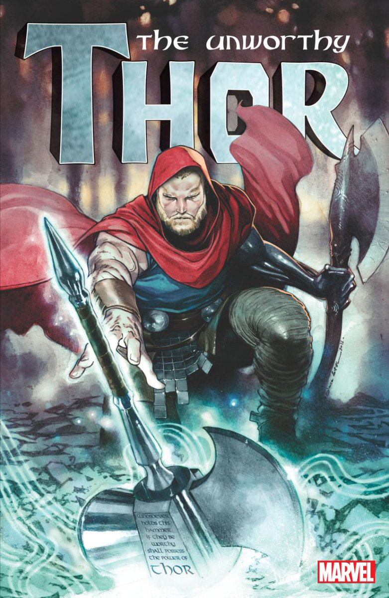 jason aaron on twitter unworthy thor 1 cover by olivier coipel