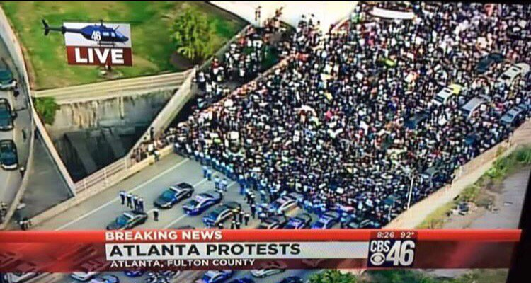 Atlanta Creating history Powerful! #BlackLivesMatter #Atlantaprotest