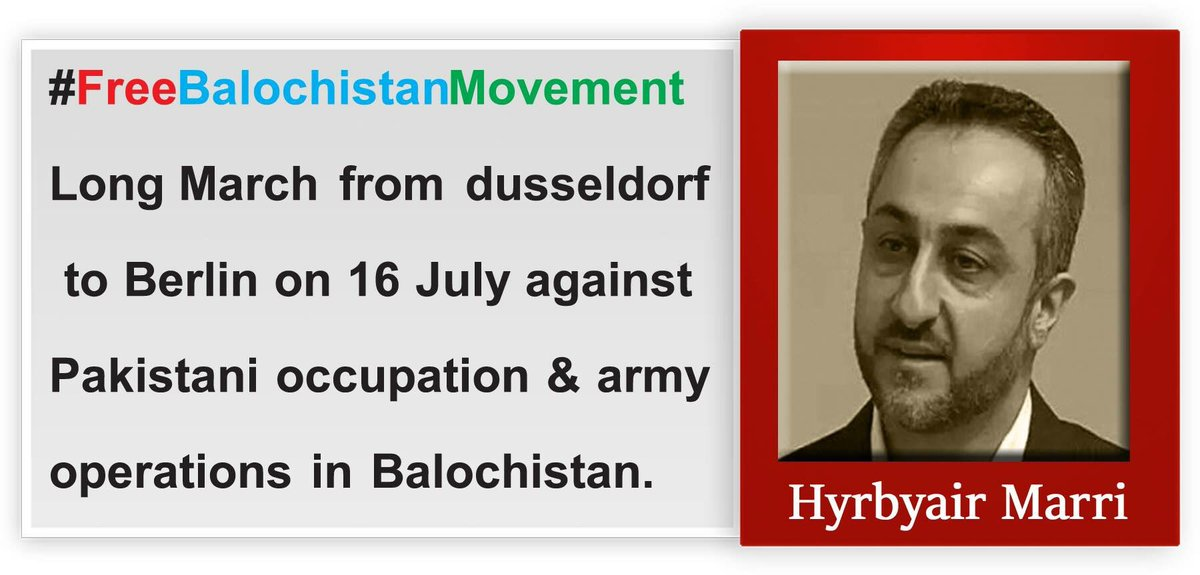 Support  # FreeBalochMovement long march which announced by by national leader #Hyrbyair Marri pic.twitter.com/kAfYkrCK1m