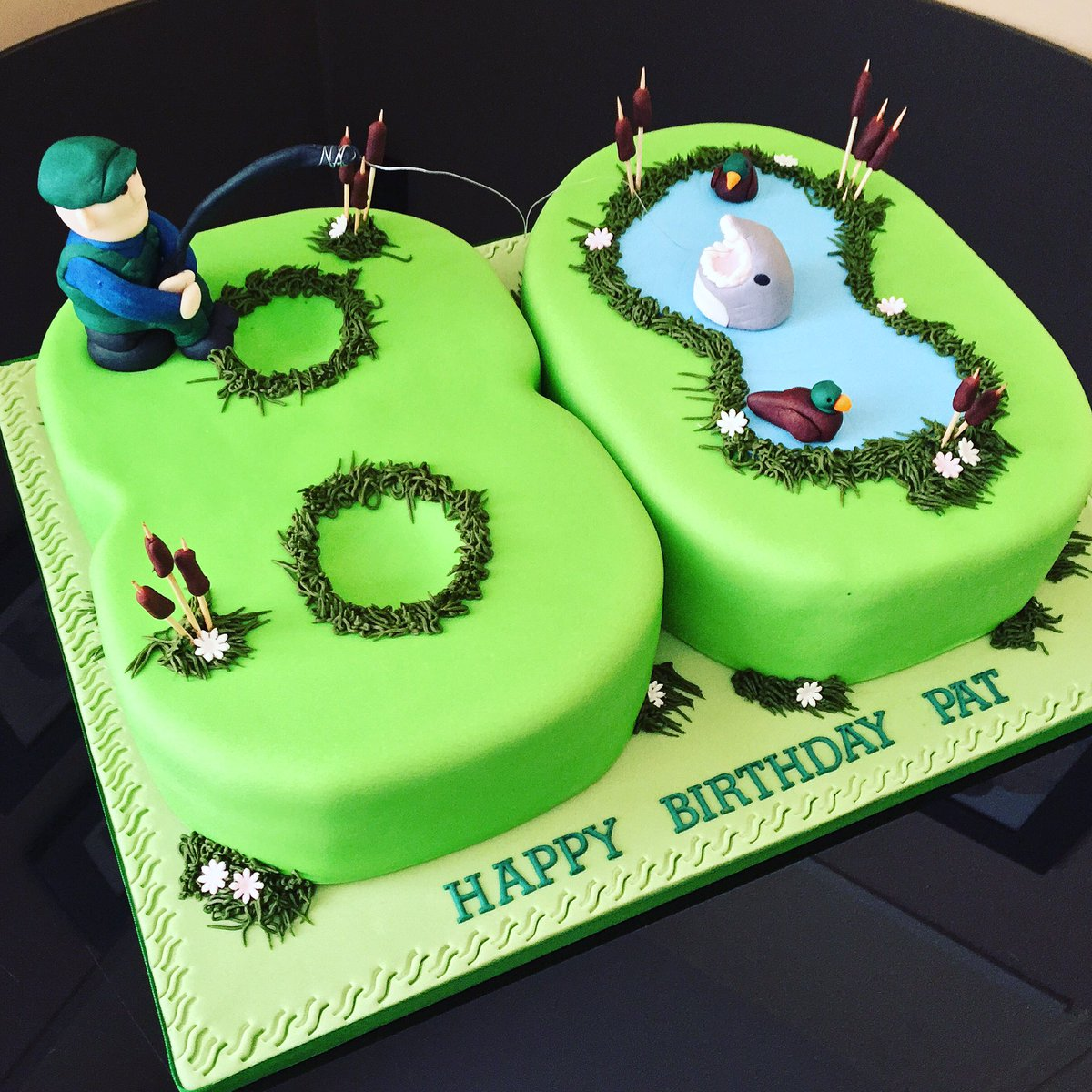 Astonishing Marias Cake Boutique On Twitter No 80 Fishing Themed Birthday Funny Birthday Cards Online Eattedamsfinfo