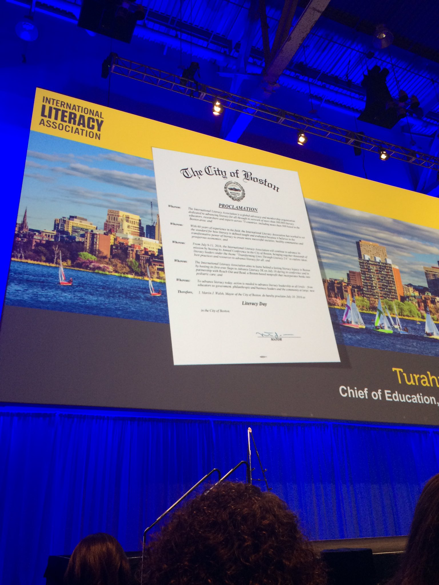 Morning #CatholicEdChat from #ILA16 where tomorrow in Boston it's Literacy Day! https://t.co/hbOcSiDZyv
