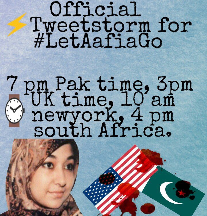 Free aafia siddiqui on twitter we are all aafia dr aafia is 7pm pakistan time 3pm uk time 10am newyork time 4pm south africa time tweet stormpicitteruuxwfurwai sciox Images