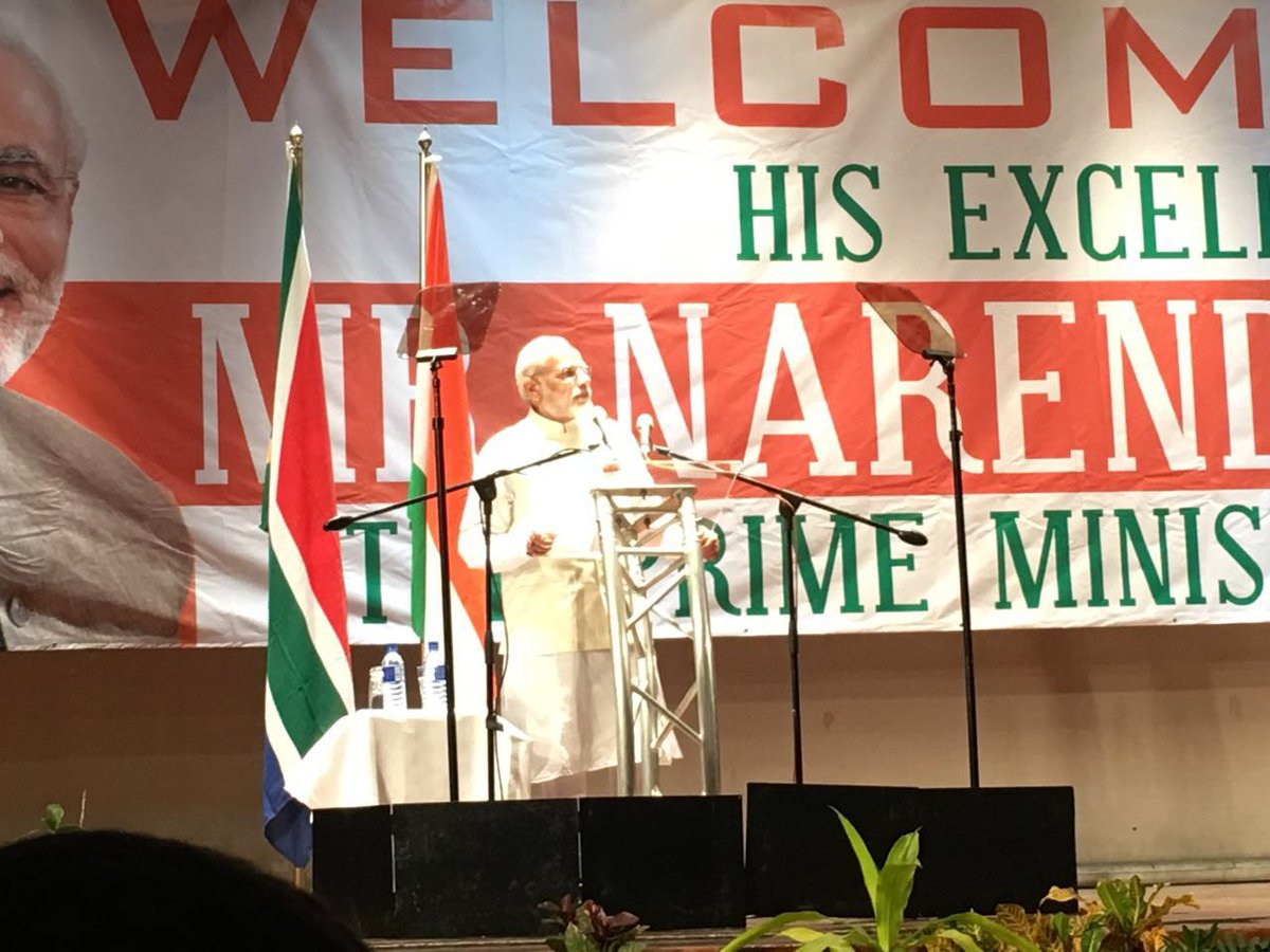 Benefits of India's economic progress available for Africa: PM in Durban