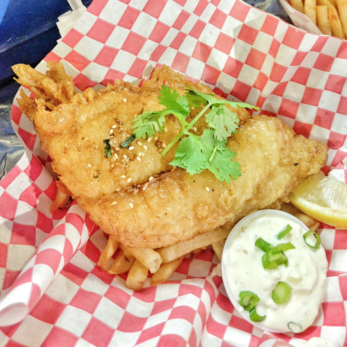 Fish and Chips from Koi Food Truck in Markham Ribfest in Toronto, Ontario