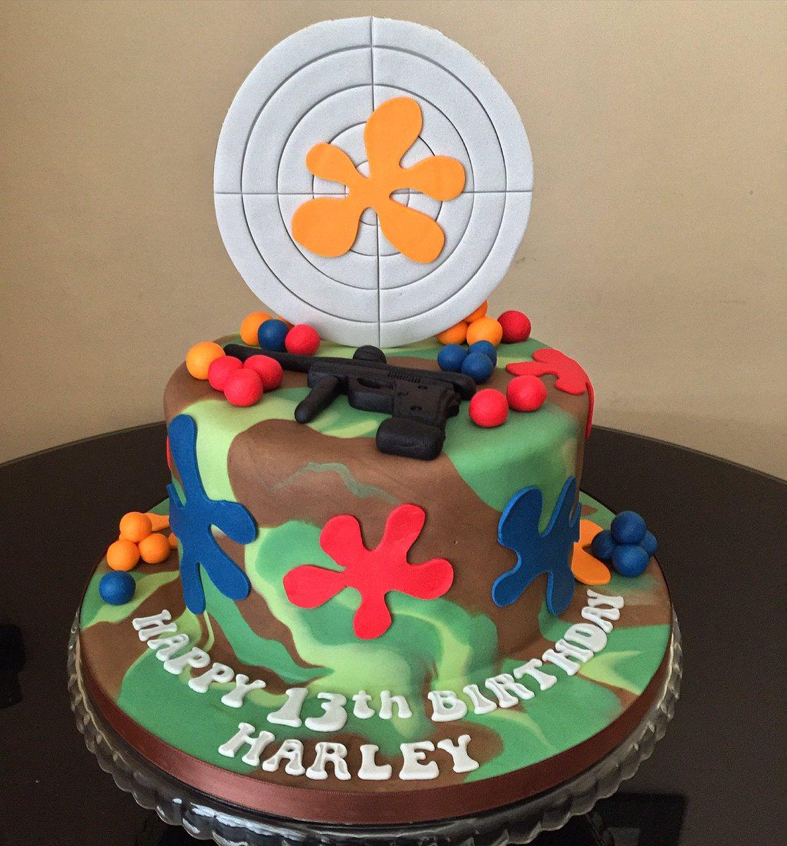 Tremendous Marias Cake Boutique On Twitter Paintball Themed Birthday Cake Birthday Cards Printable Giouspongecafe Filternl