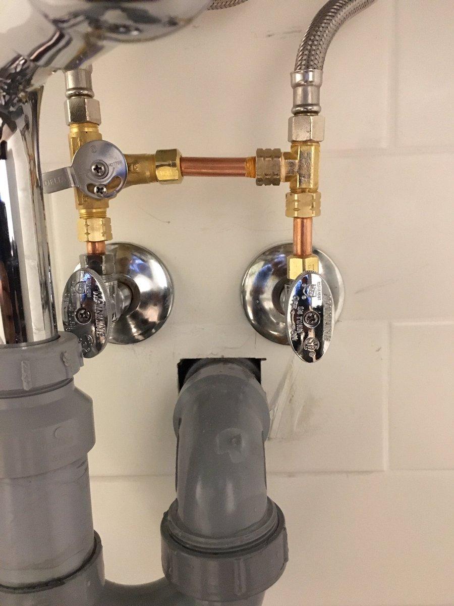Everestdrainplumbing Op Twitter Under The Sink Mechanical Mixing Valve Installed By Toronto Everest Plumber Chopped Leaf Restaurant In Burlington