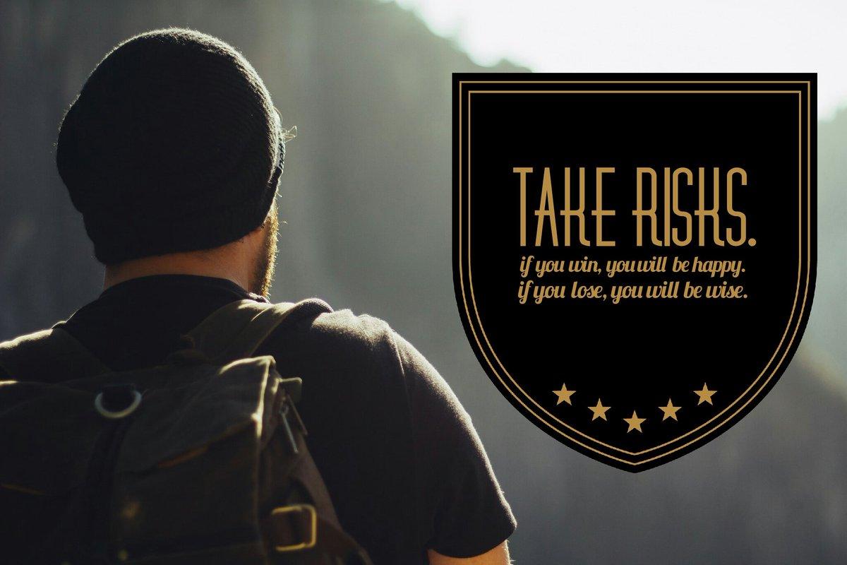 Take risks.  #leadership #education #entrepreneurship #startups https://t.co/XwNoUcqfK9