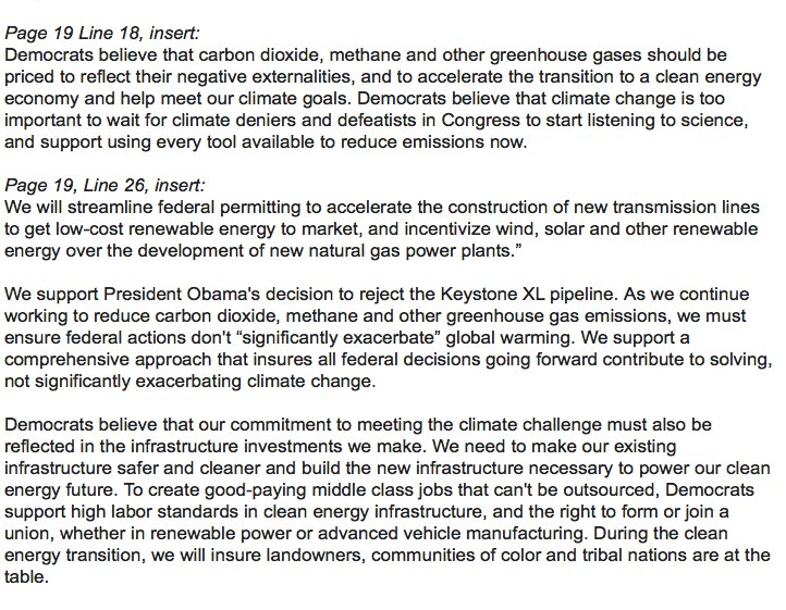 Read the unity climate amendment that just passed unanimously: #DemPlatform #climate https://t.co/TNAk2oDM6b