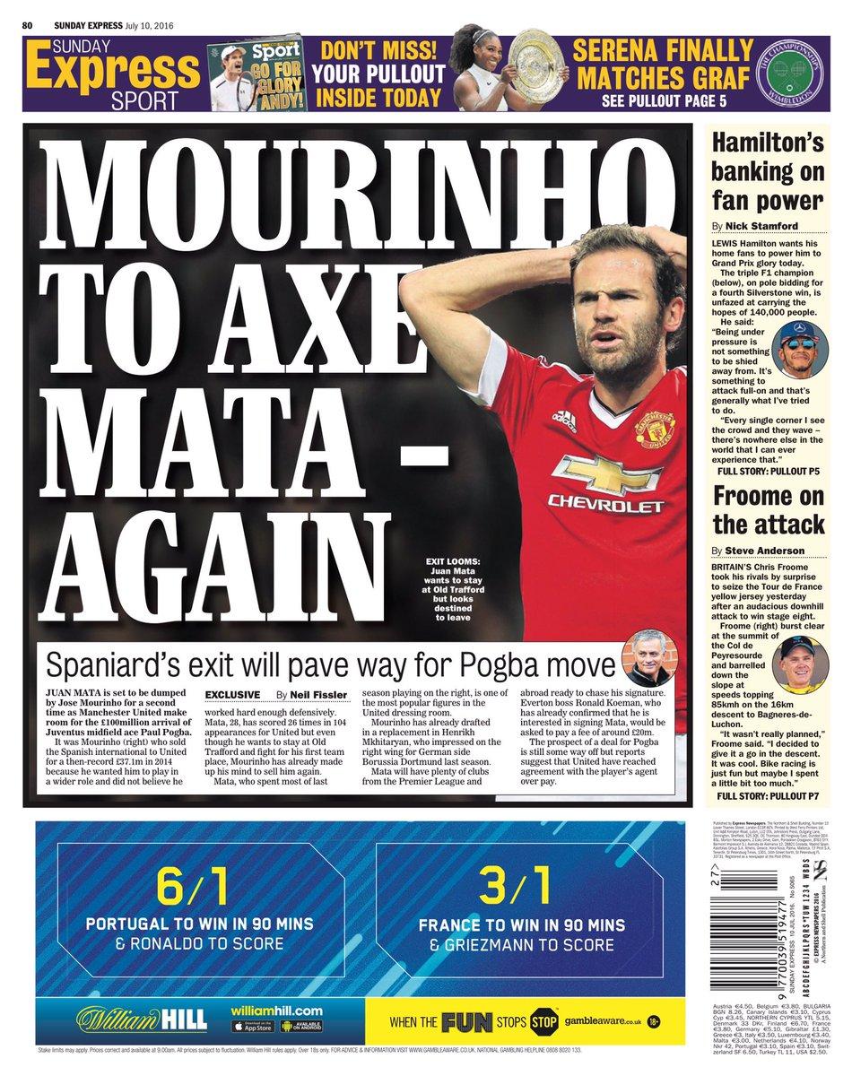 ose Mourinho to axe eight Man United stars to make way for Paul Pogba [Sun] Cm9C_YVWIAUSpVk