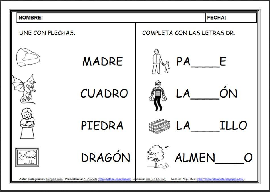 """Dibujos Con La Trabada Br: José Manuel Marcos On Twitter: """"FICHAS DE LECTOESCRITURA"""