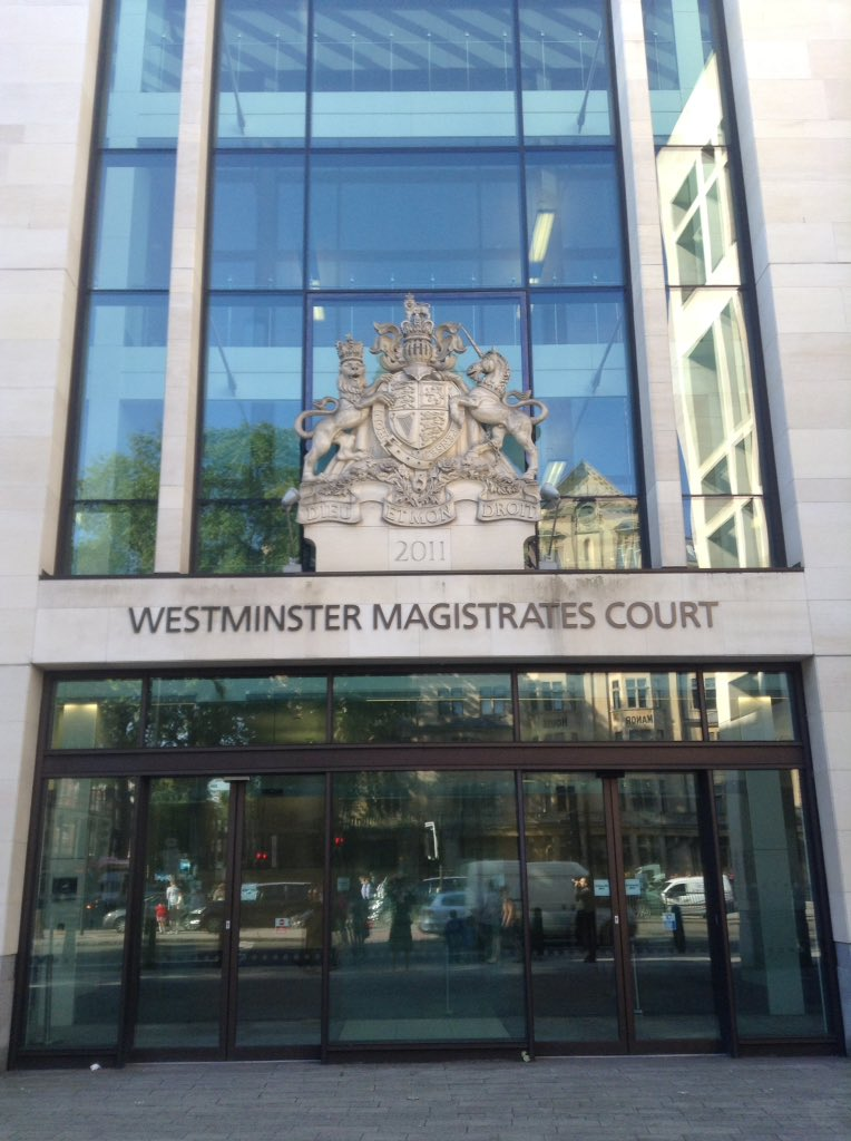 At Westminster Magistrates Court. Going to be covering the @LauriLoveX extradition hearing for the next 2 days. https://t.co/yEXIoKL3o8