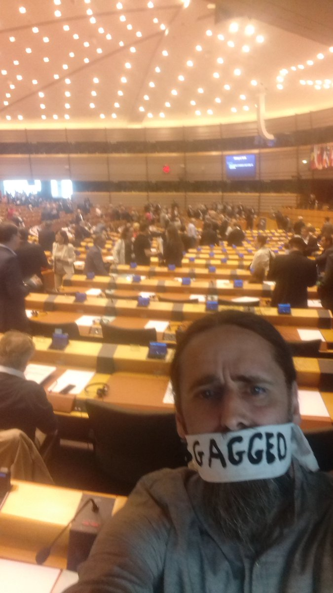 You didn't elect people to be silent. We are being #Gagged No Irish MEP speaking at today's #Brexit debate. https://t.co/0nWiggr7Tn