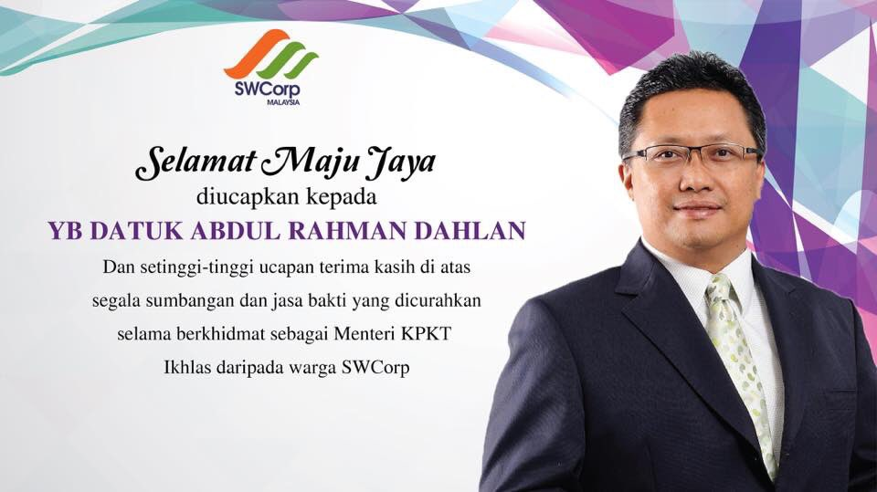 Swcorp On Twitter Selamat Maju Jaya Yb Dato Abdul Rahman Dahlan