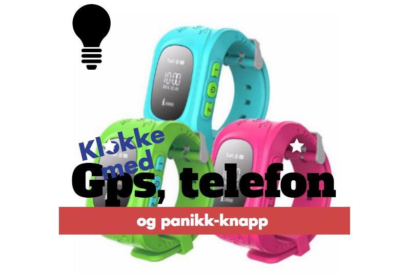 Barneklokke med GPS, telefon og panikk-knapp #asperger #klokke #gps #hjelpemiddel