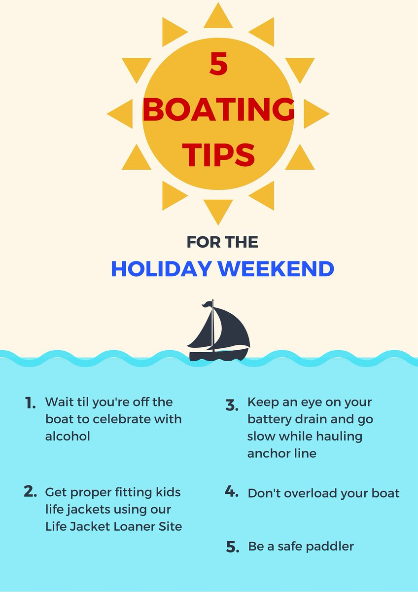 Be safe on the water this holiday weekend and remember these 5 boating tips! @BoatUSFdn https://t.co/dy6CvfzI9b